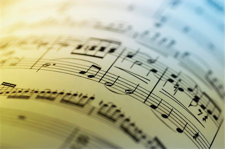 sheet music background - Close-up of sheet music Stock Photo - Premium Royalty-Free, Code: 6106-05466293