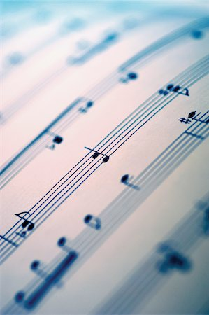 sheet music background - Close-up of sheet music Stock Photo - Premium Royalty-Free, Code: 6106-05466297