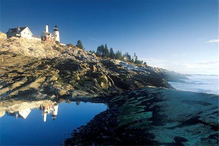 Pemaquid Point Lighthouse, ME Stock Photo - Premium Royalty-Free, Code: 6106-05472300