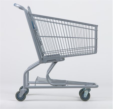 empty shopping cart - Empty grocery cart Stock Photo - Premium Royalty-Free, Code: 6106-05483891