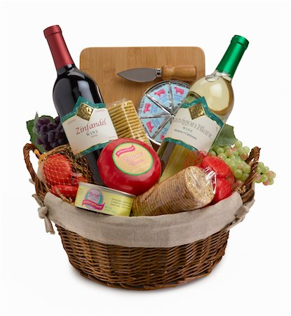 Wine bottles in basket Stock Photo - Premium Royalty-Free, Code: 6106-05483894