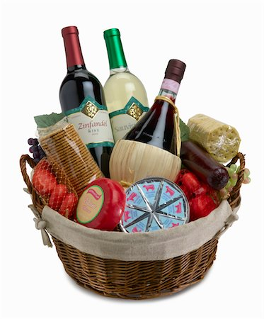 Wine bottles in basket Stock Photo - Premium Royalty-Free, Code: 6106-05483895