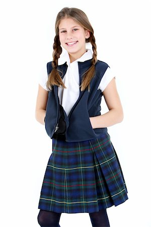 school girl uniforms - Girl in school uniform. Stock Photo - Premium Royalty-Free, Code: 6106-05488049