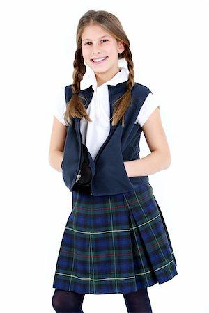 school girl uniforms - Girl in school uniform. Stock Photo - Premium Royalty-Free, Code: 6106-05488049