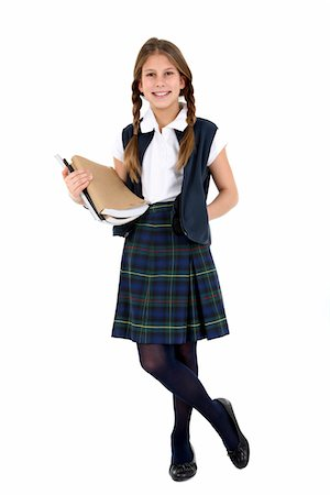 school girl uniforms - Young girl. Stock Photo - Premium Royalty-Free, Code: 6106-05488058