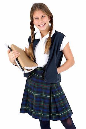 school girl uniforms - Young girl. Stock Photo - Premium Royalty-Free, Code: 6106-05488059