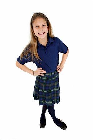 school girl uniforms - Schoolgirl. Stock Photo - Premium Royalty-Free, Code: 6106-05488069