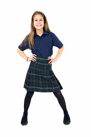 school girl uniforms - Confident girl. Stock Photo - Premium Royalty-Free, Code: 6106-05488070