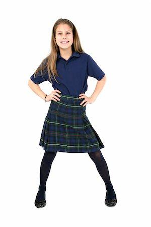 school girl uniforms - Confident girl. Stock Photo - Premium Royalty-Free, Code: 6106-05488070