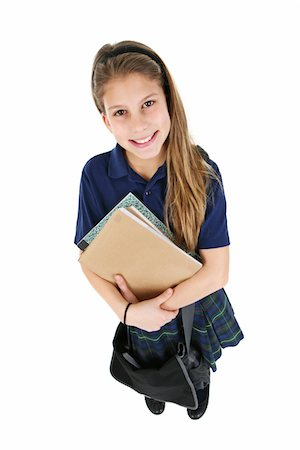school girl uniforms - Female student. Stock Photo - Premium Royalty-Free, Code: 6106-05488071