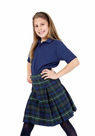 school girl uniforms - Smiling schoolgirl. Stock Photo - Premium Royalty-Free, Code: 6106-05488072