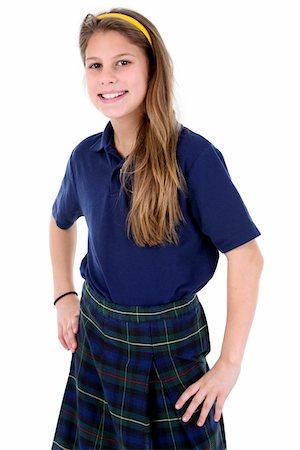 school girl uniforms - Happy student. Stock Photo - Premium Royalty-Free, Code: 6106-05488074