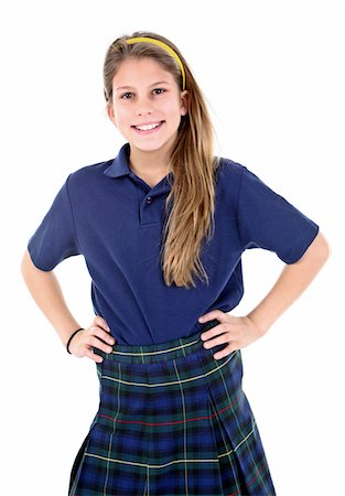school girl uniforms - Confident student. Stock Photo - Premium Royalty-Free, Code: 6106-05488075