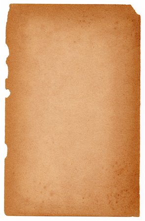 paper - Image of an old, grungy piece of paper isolated against a white background. Stock Photo - Premium Royalty-Free, Code: 6106-05488091
