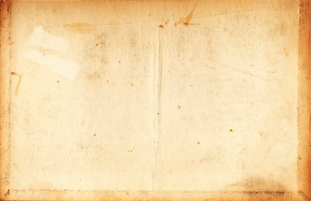 stains and discolorations - Image of an old, grungy piece of paper with creases and stains. Stock Photo - Premium Royalty-Free, Code: 6106-05488095