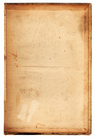 stains and discolorations - Image of an old, grungy piece of paper. Stock Photo - Premium Royalty-Free, Code: 6106-05488096