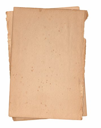 paper - Hi-Res file of an Image of an old, grungy stack of paper isolated on a white background. Stock Photo - Premium Royalty-Free, Code: 6106-05489433