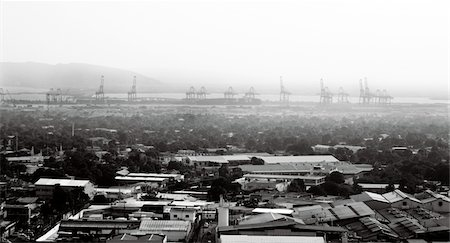 view to port of kingston. jamaica Stock Photo - Premium Royalty-Free, Code: 6106-05492496