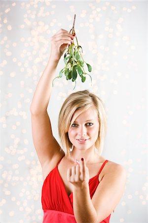 Mistletoe Desire Stock Photo - Premium Royalty-Free, Code: 6106-05494923