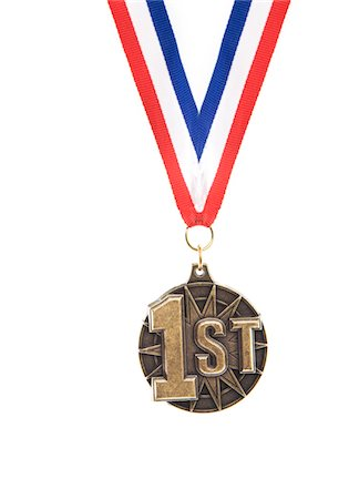 1st place medal Stock Photo - Premium Royalty-Free, Code: 6106-05497158