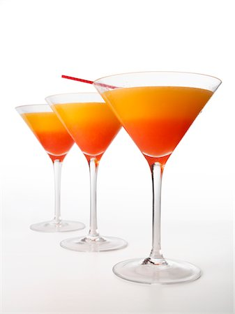 Tequila Sunrise Cocktail Stock Photo - Premium Royalty-Free, Code: 6106-05497237