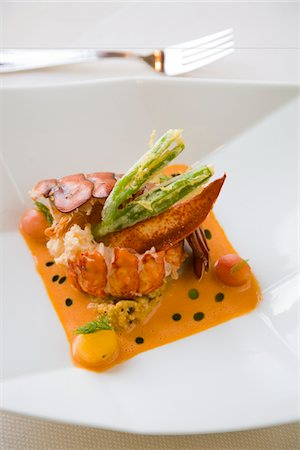 detail of a lobster entree Stock Photo - Premium Royalty-Free, Code: 6106-05498387