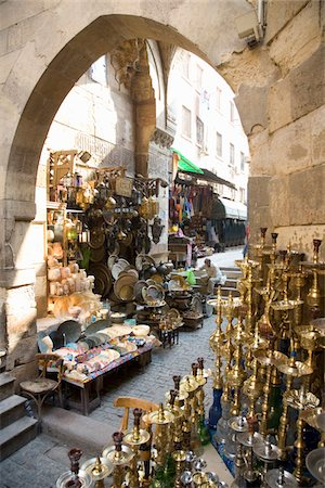 old market selling brass items Stock Photo - Premium Royalty-Free, Code: 6106-05498494