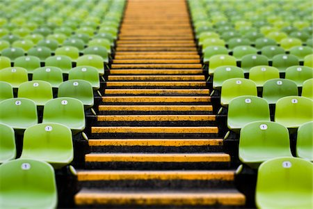 repeating - Seats in a stadium Stock Photo - Premium Royalty-Free, Code: 6106-05403756