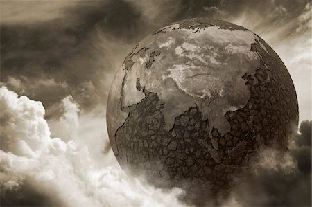 Dry earth due to pollution Stock Photo - Premium Royalty-Free, Code: 6106-05405192