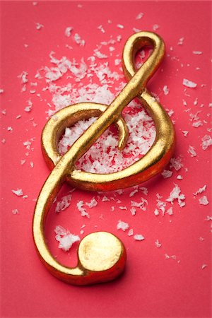 Gold Treble Clef Music Ornament Stock Photo - Premium Royalty-Free, Code: 6106-05405292
