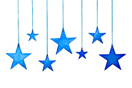 stars on white background - Christmas in blue Stock Photo - Premium Royalty-Free, Code: 6106-05406296