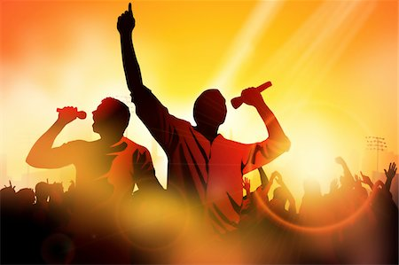 Rappers in concert Stock Photo - Premium Royalty-Free, Code: 6106-05406333