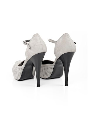 Gray high heeled shoe Stock Photo - Premium Royalty-Free, Code: 6106-05407155