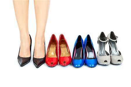 pair - coloured women shoes choosed Stock Photo - Premium Royalty-Free, Code: 6106-05407158