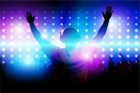 Club DJ Stock Photo - Premium Royalty-Free, Code: 6106-05407343