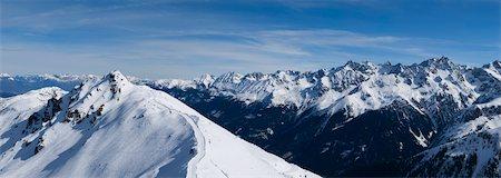 panoramic winter scene - Mountain Panorama Stock Photo - Premium Royalty-Free, Code: 6106-05408951