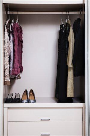 view of a tidy female wardrobe Stock Photo - Premium Royalty-Free, Code: 6106-05410372