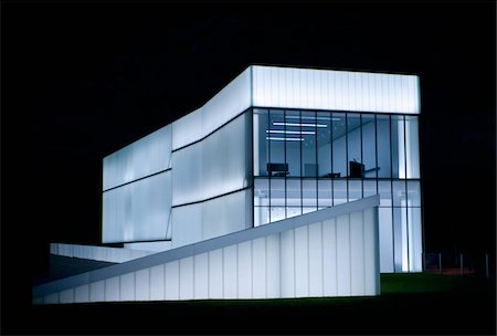 exhibition - Nelson Atkins Museum of Art, night shot Stock Photo - Premium Royalty-Free, Code: 6106-05412368