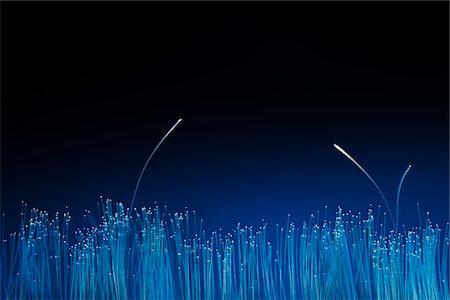 fiber optics nobody - look for the other optical fiber Stock Photo - Premium Royalty-Free, Code: 6106-05416542