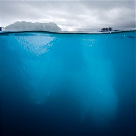Underwater Iceberg, Svalbard, Norway Stock Photo - Premium Royalty-Free, Code: 6106-05418490