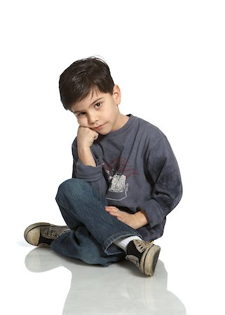 Bored Kid Stock Photo - Premium Royalty-Free, Code: 6106-05425623