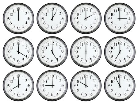 One to Twelve O'clock Stock Photo - Premium Royalty-Free, Code: 6106-05426089