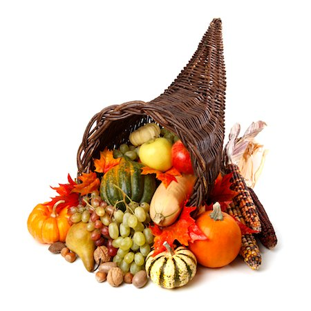 Cornucopia Isolated on a White Background Stock Photo - Premium Royalty-Free, Code: 6106-05430328