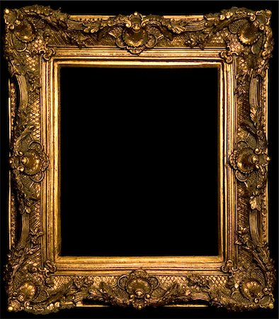 framed (photographic border showing) - ornate gold frame border Stock Photo - Premium Royalty-Free, Code: 6106-05432018