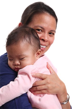 filipina - Mother and baby child Stock Photo - Premium Royalty-Free, Code: 6106-05434495