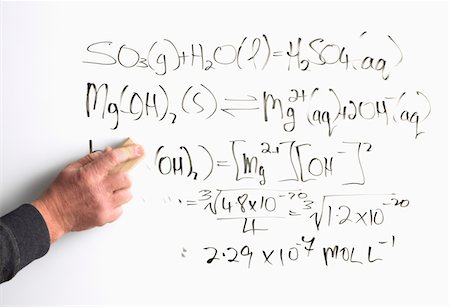 formula - Teacher removing chemical formulae on white board Stock Photo - Premium Royalty-Free, Code: 6106-05435714