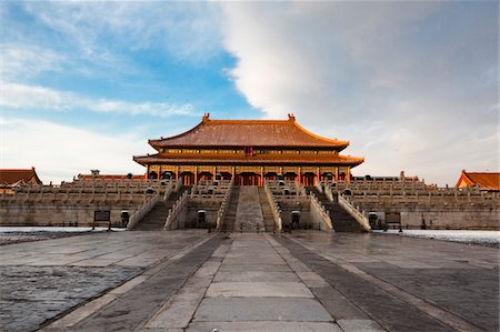 Forbidden City after Snow Stock Photo - Premium Royalty-Free, Code: 6106-05437918