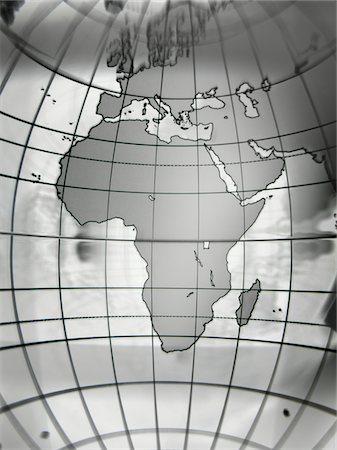 Globe with Africa prominent, close-up Stock Photo - Premium Royalty-Free, Code: 6106-05546524