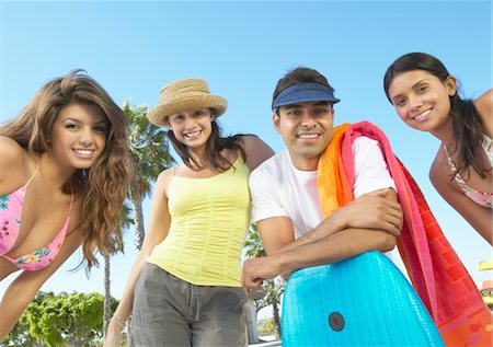 Portrait of Teenage Boys and Girls on Holiday Stock Photo - Premium Royalty-Free, Code: 6106-05589586