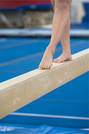 female 16 year old feet - Teenage girl (16-17 years) on balance beam, low section Stock Photo - Premium Royalty-Free, Code: 6106-05502141